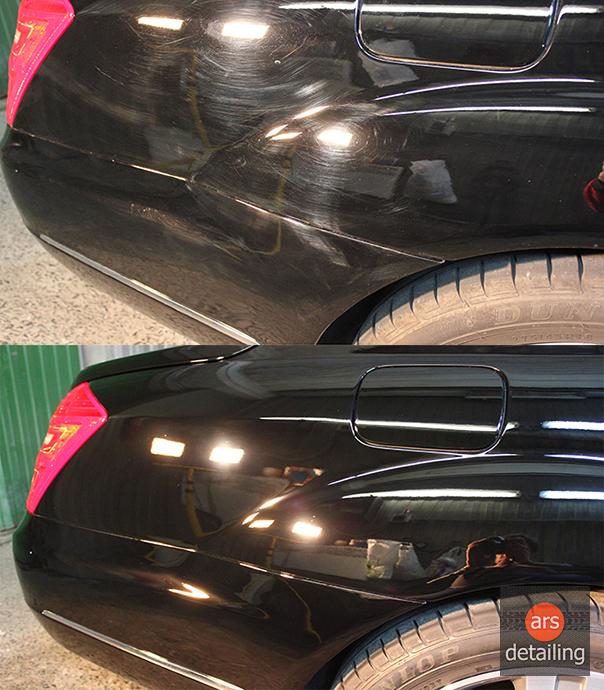 полировка машины до и после фото